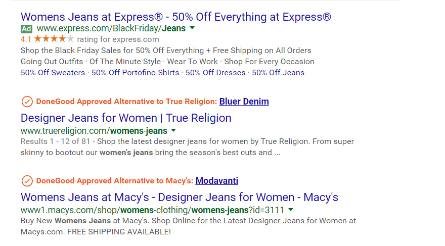 Make online purchases that agree with your values